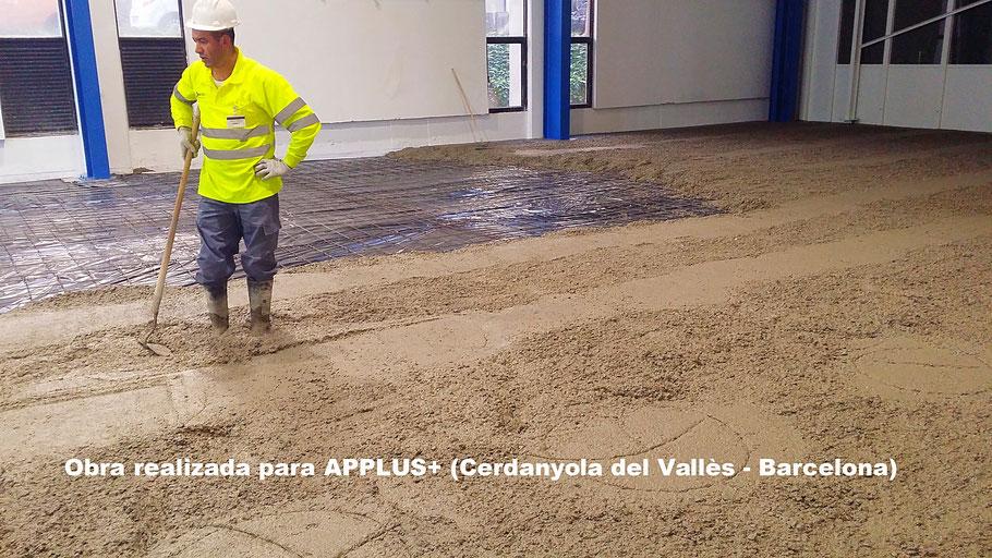 Pavimentos de hormigón para la industria combinados con suelos y pavimentos industriales de resinas en Barcelona