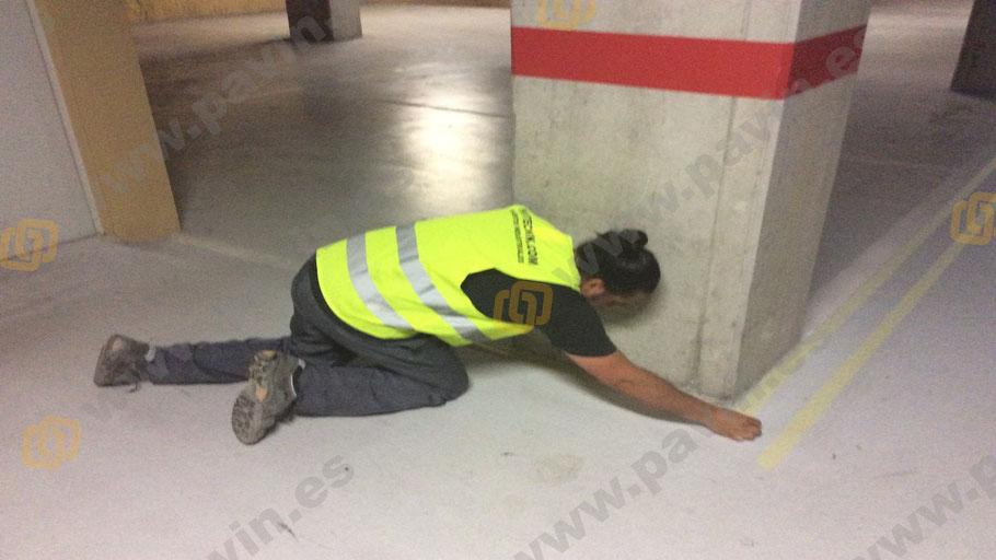 Pasillos peatonales para suelos en parkings