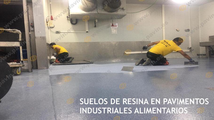 Pavimentos industriales homologados con suelos de resina instalados por Grupo Pavin en empresas del sector alimentario