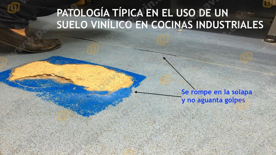 La resistencia a los golpes de estos suelos vinílicos el según que entornos industriales se ve muy limitada