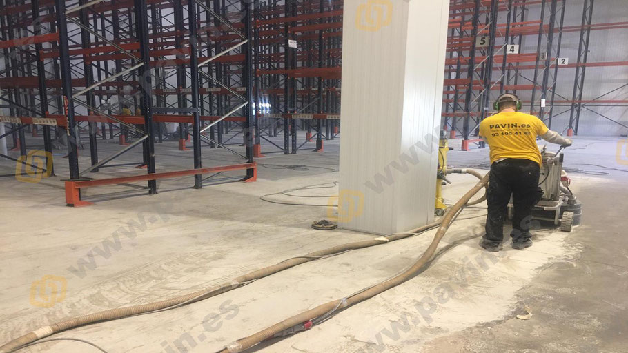 Dianovado del pavimento de hormigón para aplicar suelos de resina epoxi para naves pharma