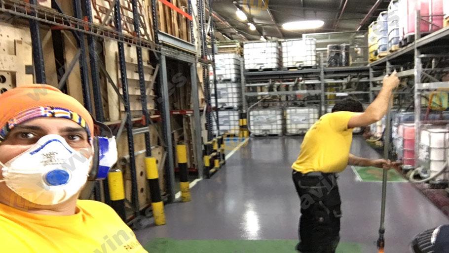 Capa de sellado con resina epoxi en los pavimentos industriales para el sector secundario