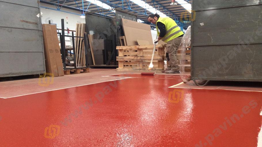 Reparación de Suelos y pavimentos industriales de resinas continuos aplicados por Grupo Pavin