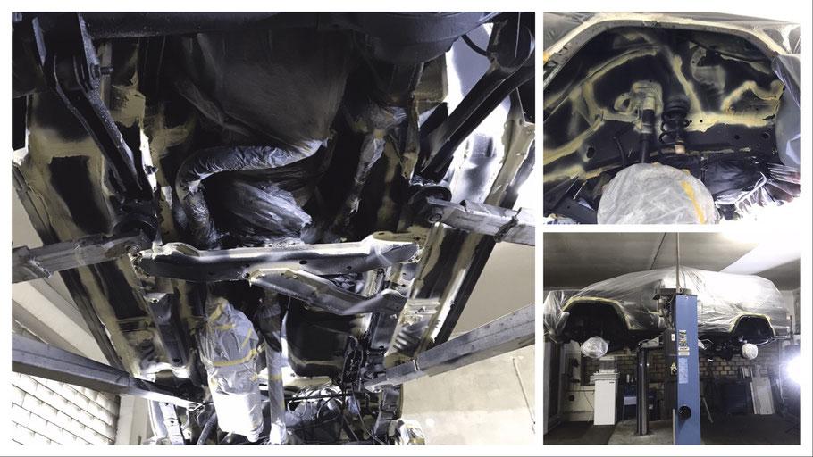 Hohlraumversiegelung eines US Jeep Cherokee XJ Bj 99