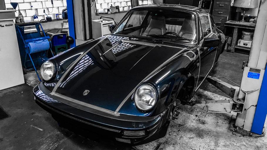 Trockeneisstrahlen Porsche 911