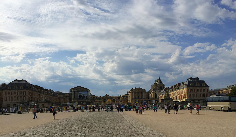 Versailles.  30,000 visitors a day.