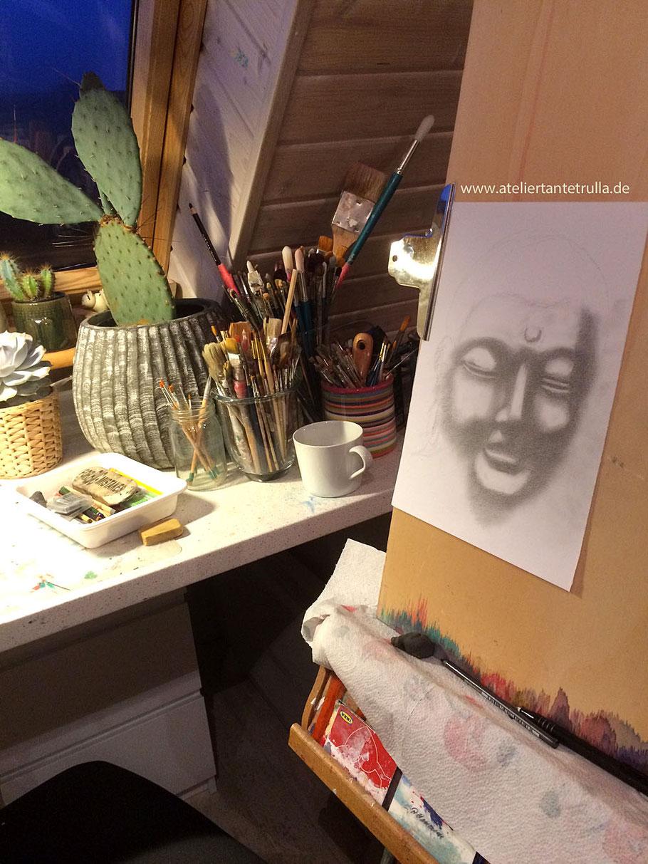 Buddha Zeichnung