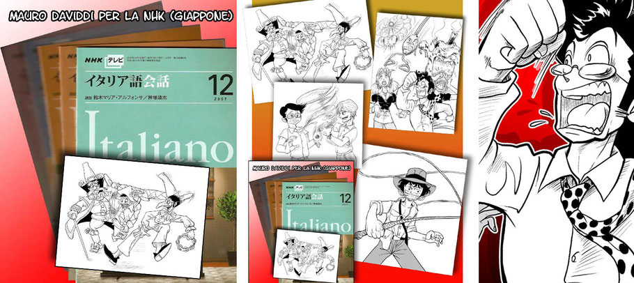 """Serie di illustrazioni in stile manga per il servizio pubblico radiotelevisivo giapponese """"NHK"""""""