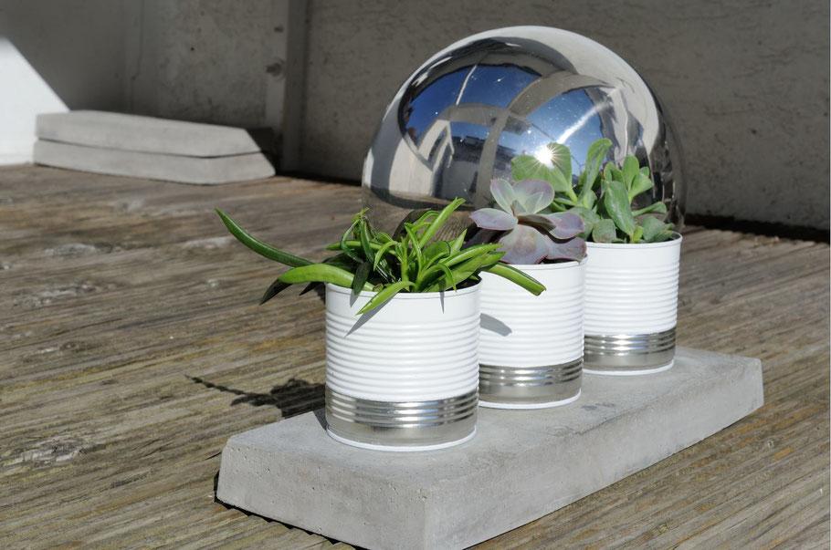 My GREEN Home. Leere Dosen. Metall anmalen. Zero Waste. Blechdosen. Nachhaltig. Ressourcen schonend. Farbe. Kreativ. Minimalismus. Upcycling. Vasen. Übertöpfe.