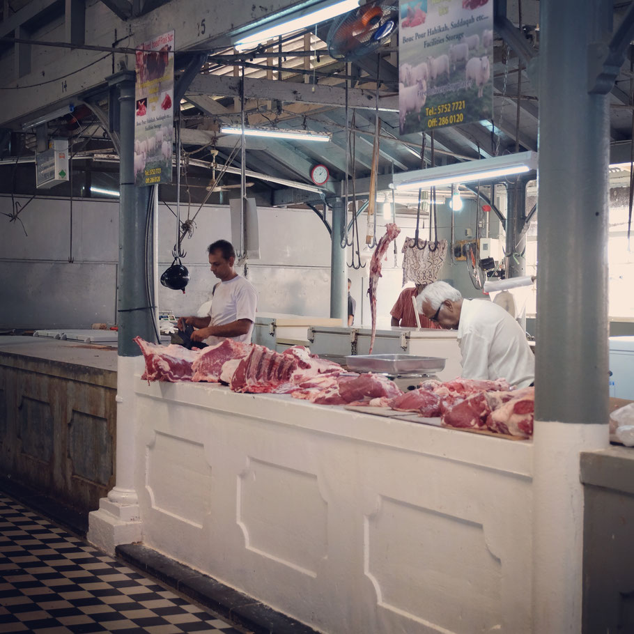 Mauritius meat market