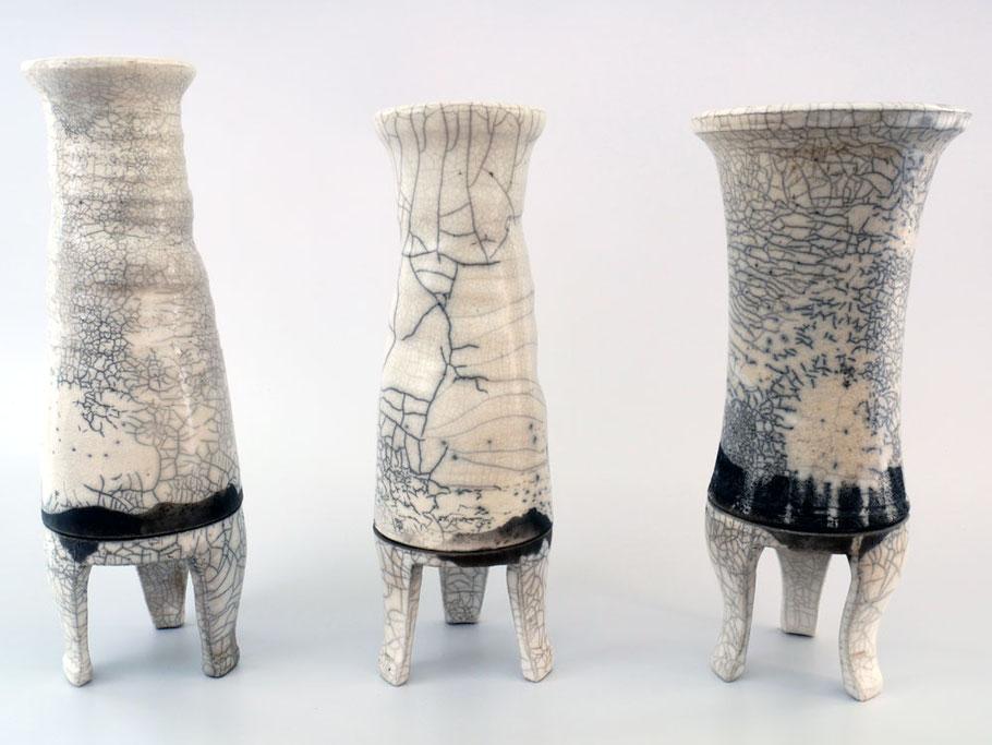 Raku Vasen mit Ständer (abnehmbar)