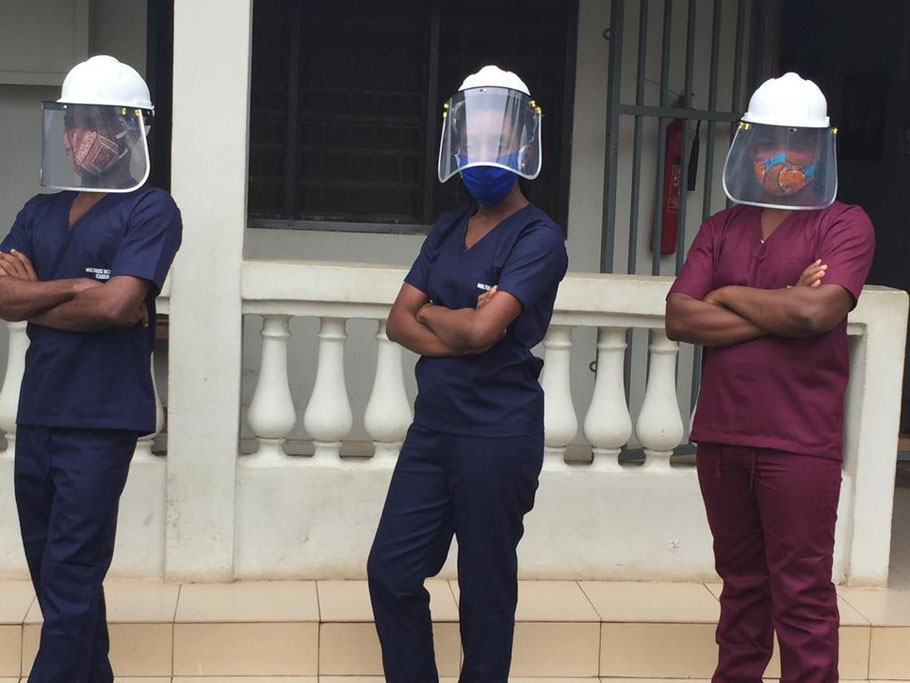 Members of our clinical team in their PPE's ready for action!