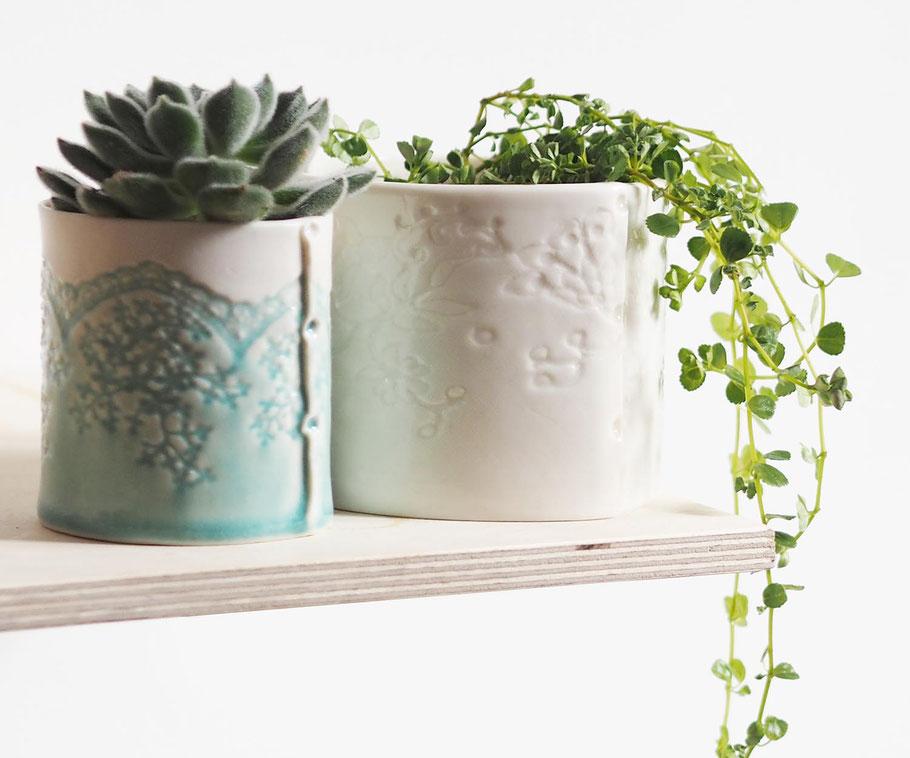 fine porcelain lace pots