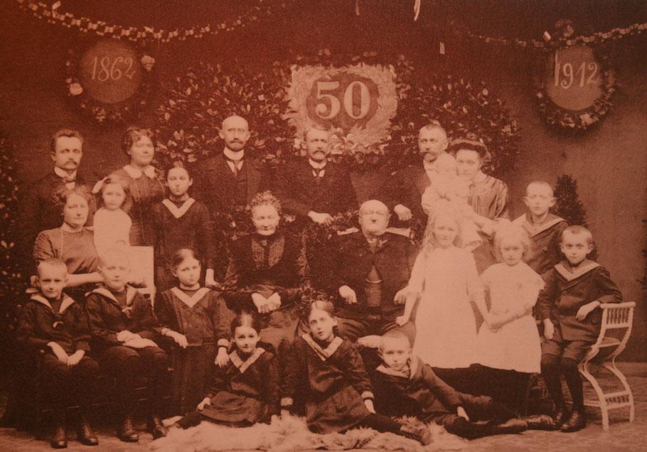 1912 Goldhochzeit Bernhard Paul Breimann – Anna Maria Schürmann-Lappmann