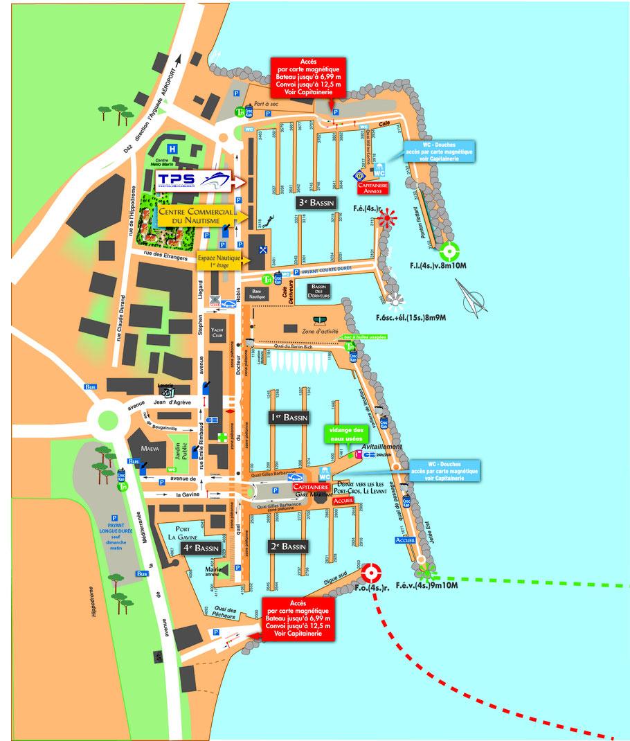 Plan port d'Hyères