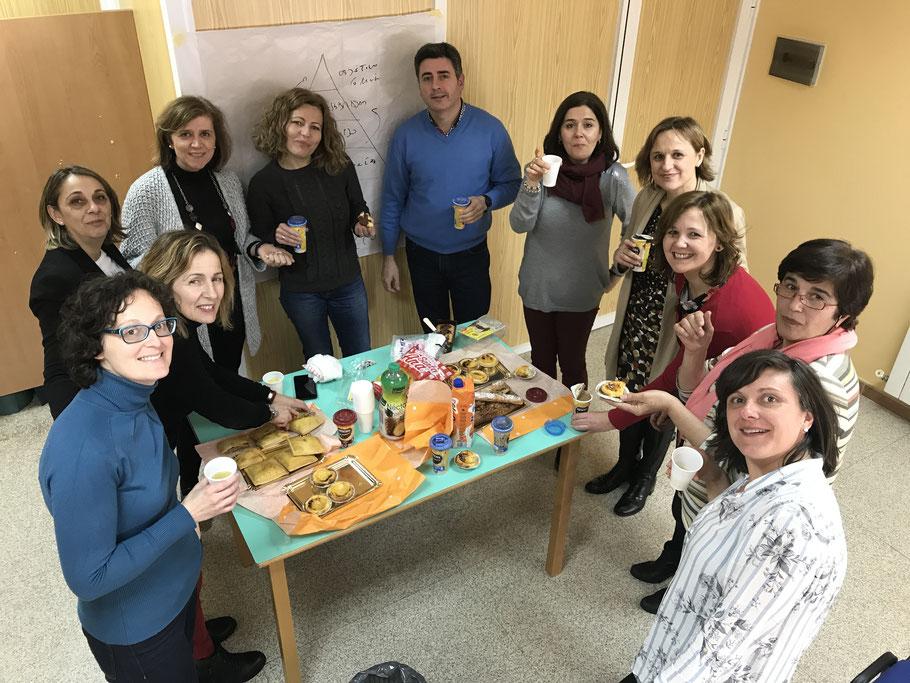 Celebrando el cierre de ciclo de coaching con los equipos de Quintanar de la Orden, Villanueva de Alcardete y Corral de Almaguer, un proyecto para trasformar el marco de referencia y para apoyar a los equipos de SS de la región