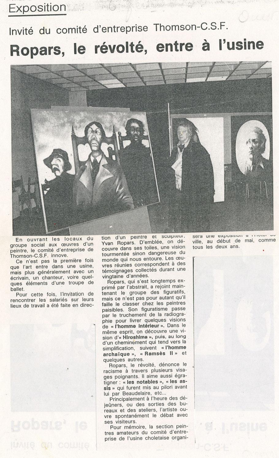Ouest-France Cholet 6 février 1990