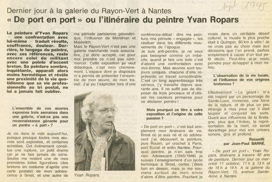 Ouest-France 11 octobre 1995