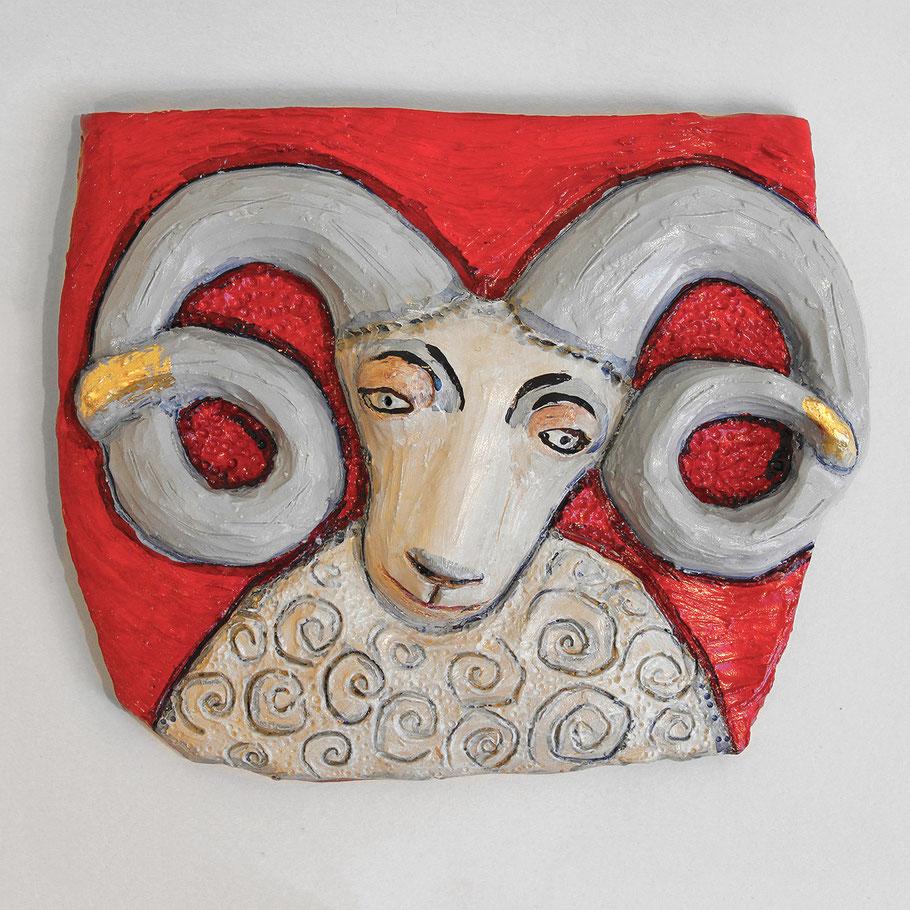Tierkreiszeichen Widder, Keramik von Susanne Stuwe-Thiel