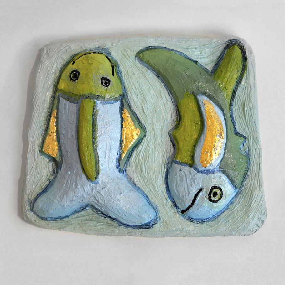 Tierkreiszeichen Fische, Keramik von Susanne Stuwe-Thiel