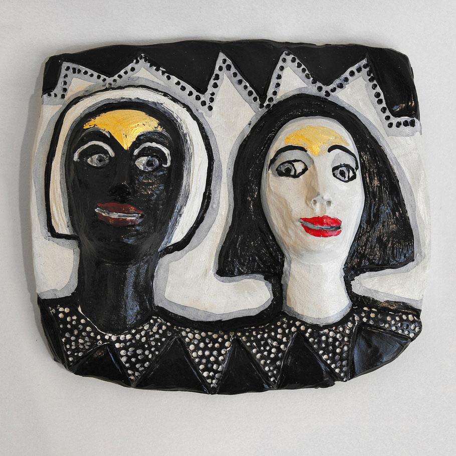 Tierkreiszeichen Zwillinge, Keramik von Susanne Stuwe-Thiel