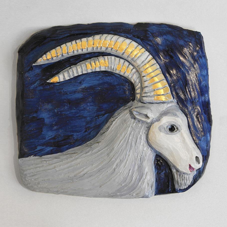Tierkreiszeichen Steinbock, Keramik von Susanne Stuwe-Thiel