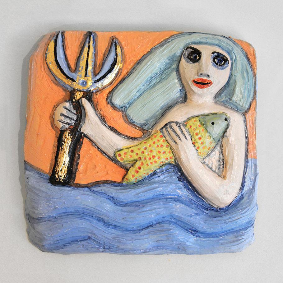 Tierkreiszeichen Wassermann, Keramik von Susanne Stuwe-Thiel