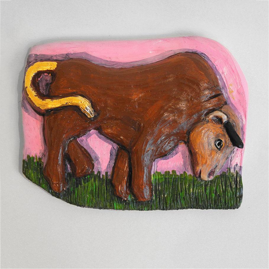 Tierkreiszeichen Stier, Keramik von Susanne Stuwe-Thiel