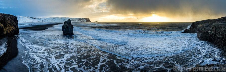 Dyrhólaey,dramatisch,Island,Süden,Küste,Winter,Meer,stürmisch,Wellen,Februar