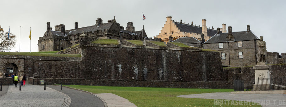 Stirling,castle,Panorama,Ansicht,Eingang,entry,Herbst,Oktober,Schottland,view,tipps