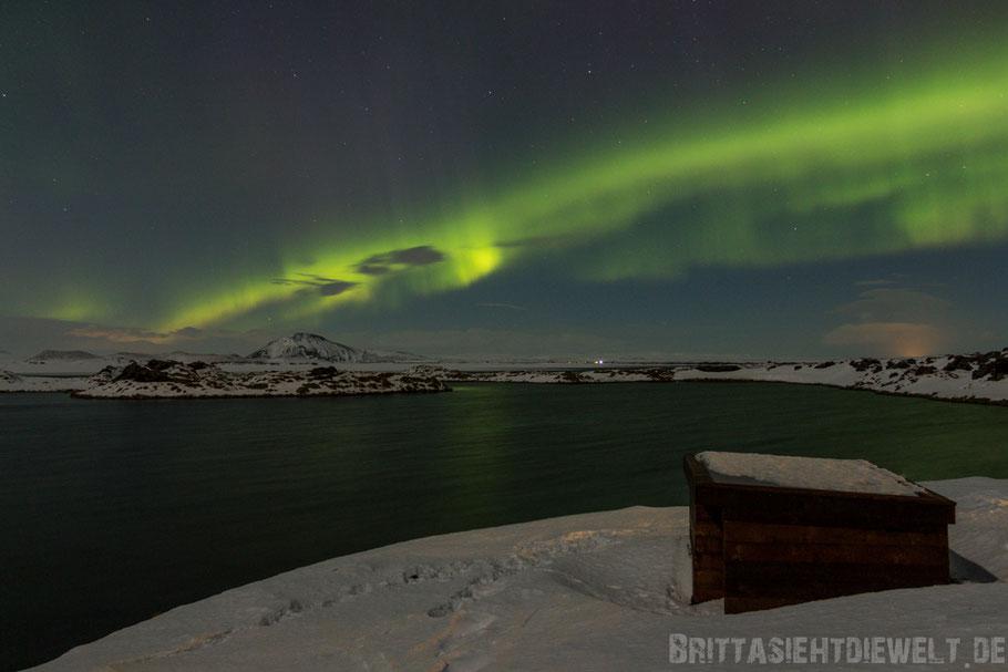 Polarlicht über dem Myvatnsee
