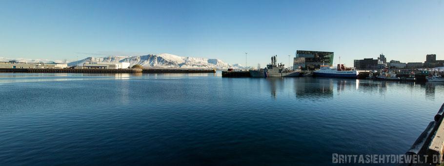 Reykjavik,Harpa,Island,Winter,Tipps,Reiseinformation,Panorama,reisetipps,tipps,februar,zwei,wochen,hafen,meer