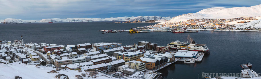 Hammerfest,Panorama,Aussicht,Salen,Hurtigruten,ms,Midnatsol, Postschiff,Winter,November,Tipps