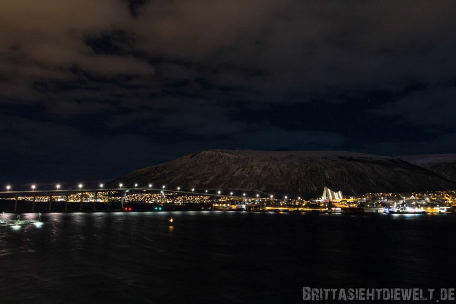Tromsø,Eismeerkathedrale,Konzert,Hurtigruten,MS,Midnatsol,Postschiff,Nacht