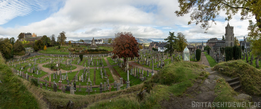 Stirling,castle,Panorama,Cemetery,Church,of the holy rude,Herbst,Oktober,Schottland,tipps