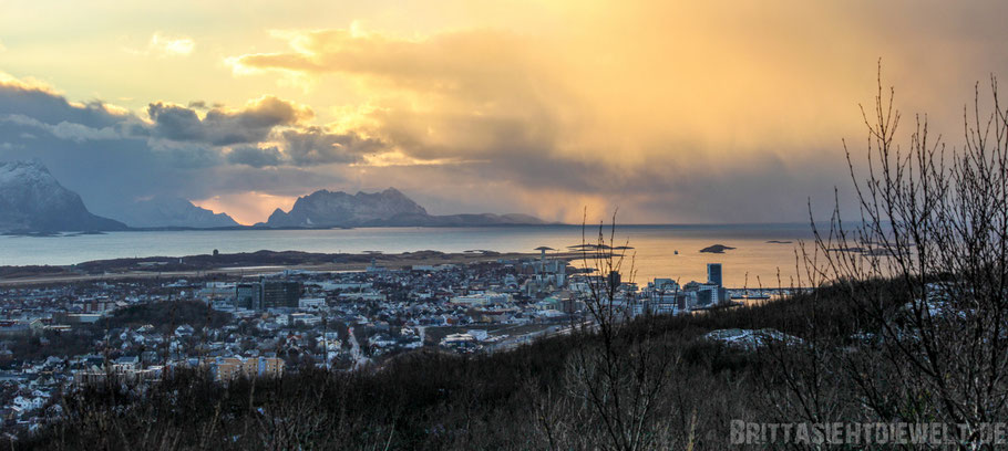Panorama,Bodø,Blick,Rønvik-Fjell,Aussicht,Hurtigruten,Postschiff,Tipps