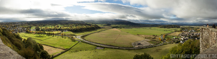 Stirling,castle,Aussicht,view,Panorama,Süden,Blick,Herbst,Oktober,Schottland,tipps
