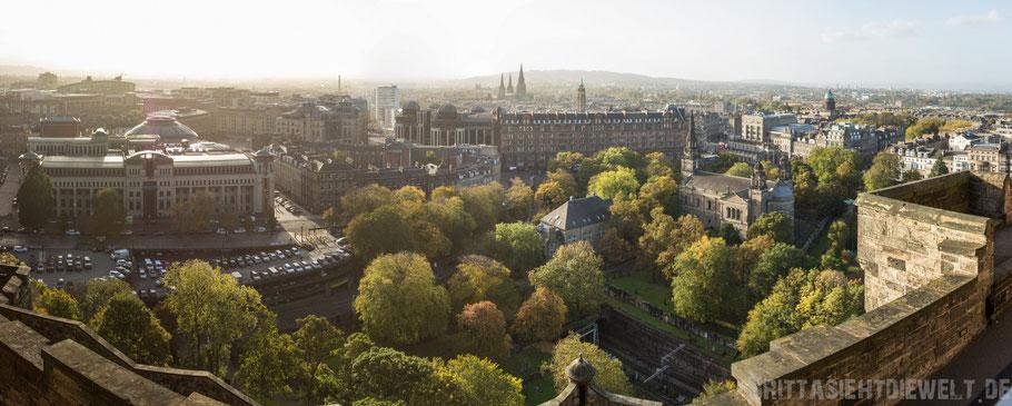 Edinburgh,castle,schottland,herbst,oktober,tipps,sehenswürdigkeiten,schloss,Panorama,Aussicht,view.