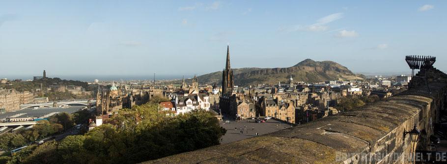 Edinburgh,castle,schottland,herbst,oktober,tipps,sehenswürdigkeiten,schloss,Panorama,Aussicht,view,Carlton,hill,Arthurs,seat.