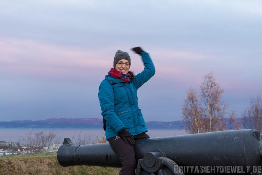 Festung,Kristiansten,Trondheim,Kanone,Hurtigruten,Norwegen,ms,Midnatsol, Postschiff,Winter,November,Tipps,2014