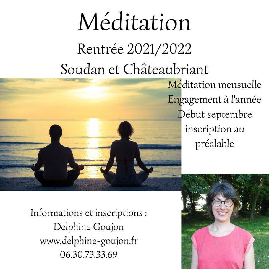 Méditation châteaubriant méditation soudan méditation loire atlantique