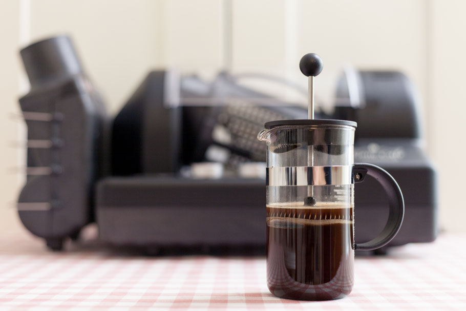 Röstprofile Pressstempelkanne Kaffee in Gene Cafe Röster
