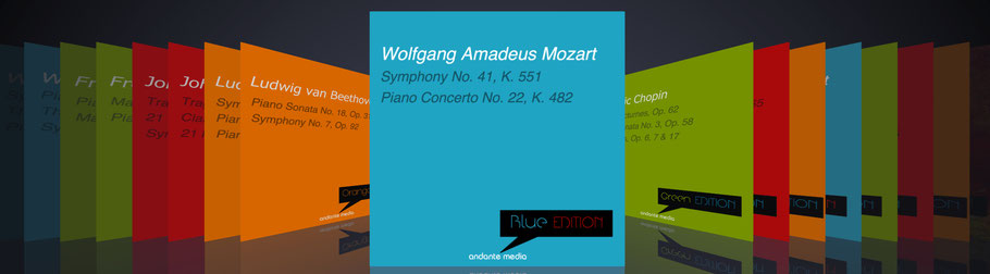 """""""Coloured Collections"""" of andante media DIGITAL ENTERTAINMENT classical music CD releases - all rights reserved!"""