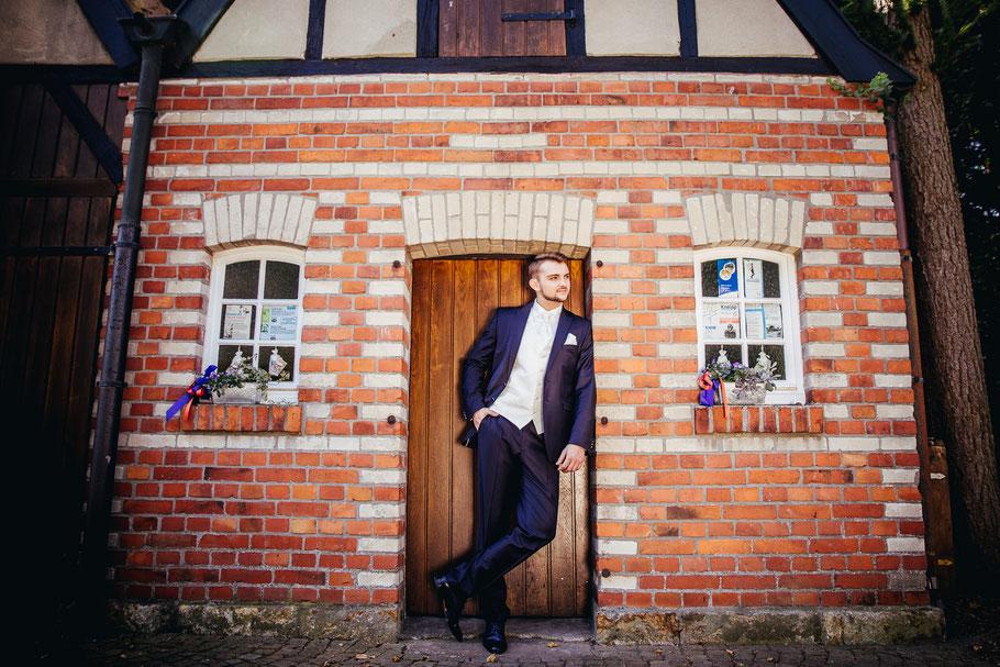 Bräutigam Portrait Münster Hochzeit Fotograf