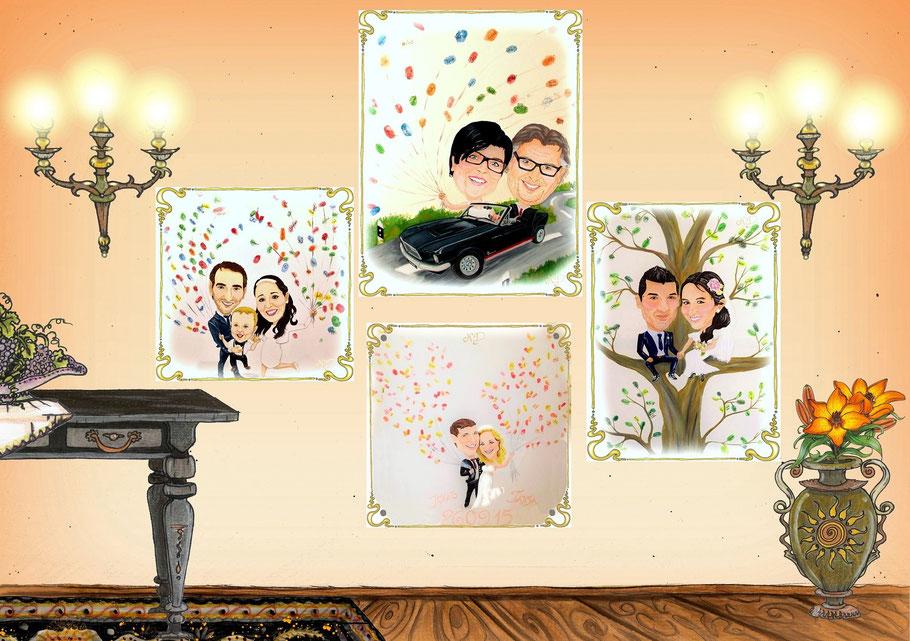 #Karikatur #Hochzeitskarikatur #Hochzeitsgeschenk #persönlichesHochzeitsgeschenk #Hochzeitsgeschenkideen #HochzeitsgästebuchaufLeinwand