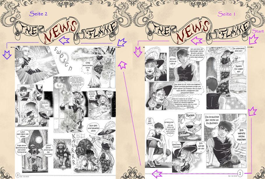 #comic #mangacomic #luxzeichenwettbewerb #flammenfarbe #oc #thenewsflame #magiccomic #werewolf #witch #nadines-kreativschmiede