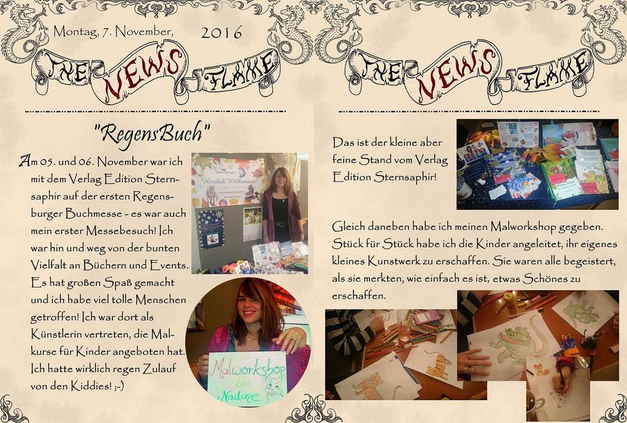 #regensbuch2016 #messeinregensburg #buchmesse #verlageditionsternsaphir #nadines-kreativschmiede #malkurs #malworkshop #malkursefürkindergrafenau #malkursfürkinderpassau #flammenfarbe