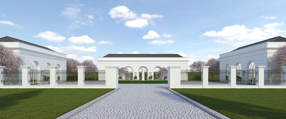 Garagenanlage Privatgarage Orangerie Niels Dornow Baukunst klassische architektur neubau wie altbau