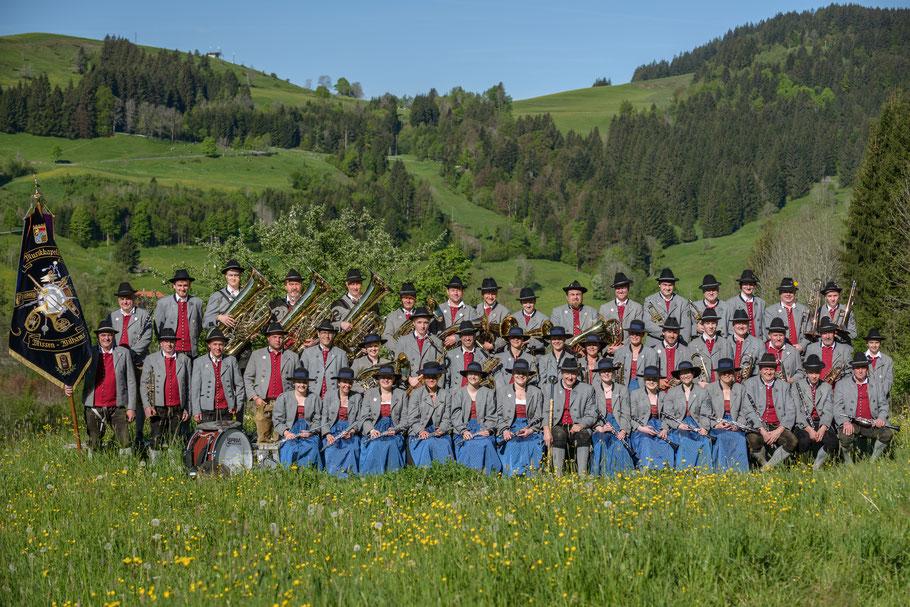 Aktive Musikanten der Musikkapelle Missen-Wilhams im Festjahr 2016
