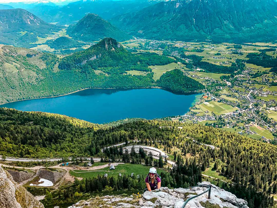 Aussicht vom Sissi-Klettersteig am Loser